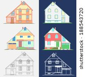 apartment house with garage   Shutterstock .eps vector #188543720