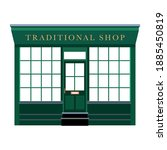 victorian style shop front... | Shutterstock .eps vector #1885450819