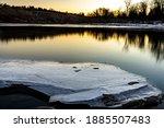 Beautiful Sunrise Lagoon With...