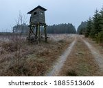 A Wooden Hunting Pulpit At The...