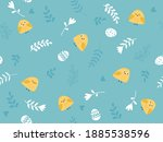 seamless pattern with easter... | Shutterstock .eps vector #1885538596
