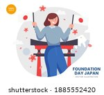 foundation day japan concept...
