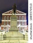 Statue Of Samuel Adams In Front ...