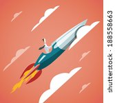 success in business  ... | Shutterstock .eps vector #188558663