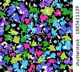 bright floral seamless pattern. ... | Shutterstock .eps vector #1885611139