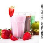 fresh milk  strawberry  lime ...   Shutterstock . vector #188561288
