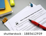 Small photo of Form 990 Return of Organization Exempt From Income Tax inscription on the sheet.