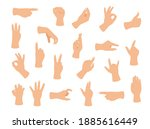 gesturing hand set. hand with...   Shutterstock .eps vector #1885616449