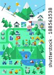 mountain background infographics | Shutterstock .eps vector #188563538