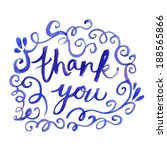 hand lettered thank you card... | Shutterstock . vector #188565866