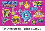 a set of cute and fun sticker... | Shutterstock .eps vector #1885662529