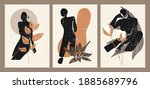 a set of three colorful...   Shutterstock .eps vector #1885689796