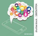 social media concept vector... | Shutterstock .eps vector #188569904