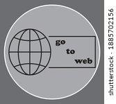 go to web symbol icon. the...