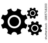 three gears icon . three gear...