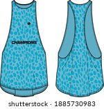 women sleeveless tank flow top... | Shutterstock .eps vector #1885730983