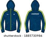 long sleeve sports hoodie... | Shutterstock .eps vector #1885730986
