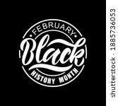 black history month february... | Shutterstock .eps vector #1885736053