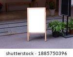 large blank billboard on a... | Shutterstock . vector #1885750396