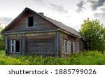 Old Abandoned Wooden House In...