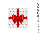 gift box with red ribbon....   Shutterstock .eps vector #1885815640