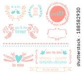 romantic graphic elements | Shutterstock .eps vector #188582930