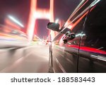 car on the road with motion... | Shutterstock . vector #188583443