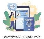 biometric documents in... | Shutterstock .eps vector #1885844926