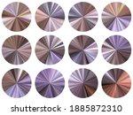 radial metallic gradient disk...