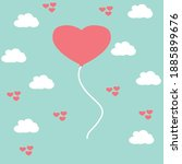valentine's day  postcard or... | Shutterstock .eps vector #1885899676