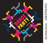 dancing party  abstract... | Shutterstock .eps vector #1885906453