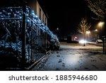 Night Time Christmas Lights On...