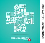 medical set. cross illustration. | Shutterstock .eps vector #188596400