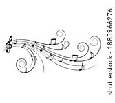 music notes  ornamental musical ... | Shutterstock .eps vector #1885966276