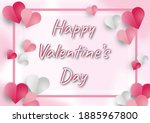 illustration happy valentine's...   Shutterstock . vector #1885967800