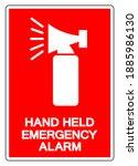 hand held emergency alarm... | Shutterstock .eps vector #1885986130