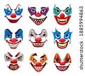 scary clown faces  vector... | Shutterstock .eps vector #1885994863