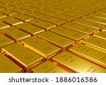 stack of gold bars background ... | Shutterstock . vector #1886016586