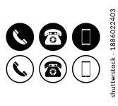 telephone icon set vector symbol