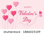 valentine equipment with heart... | Shutterstock .eps vector #1886025109