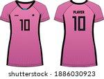 women sports t shirt jersey... | Shutterstock .eps vector #1886030923