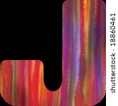 letter j alphabet symbol painted | Shutterstock . vector #18860461