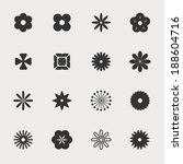 flowers vector icon set | Shutterstock .eps vector #188604716