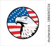 bald eagle symbol of north... | Shutterstock .eps vector #1886065216