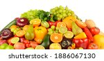 collection of multi colored... | Shutterstock . vector #1886067130