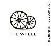 Vintage Old Wooden Cart Wheel...