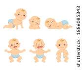vector illustration cartoon set ...   Shutterstock .eps vector #1886085343