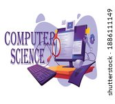 computer science learning with... | Shutterstock .eps vector #1886111149