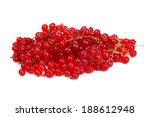 pile berries of red currant ... | Shutterstock . vector #188612948