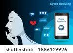 cyber bullying  online shaming  ...   Shutterstock .eps vector #1886129926